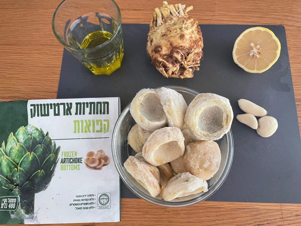 מרכיבים של ממרח ארטישוק
