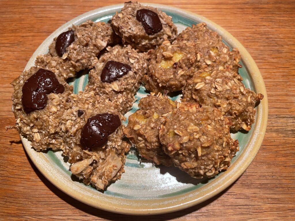 עוגיות בריאות משיבולת שועל ובננות