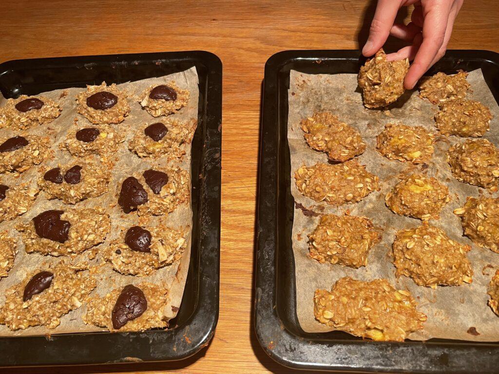 עוגיות בריאות משיבולת שועל מוכנות