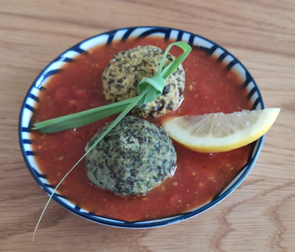 קיצות עדשים ברוטב עגבניות לימוני